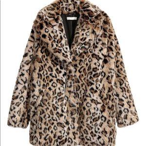 H&M Cheetah/Leopard Faux Fur Coat